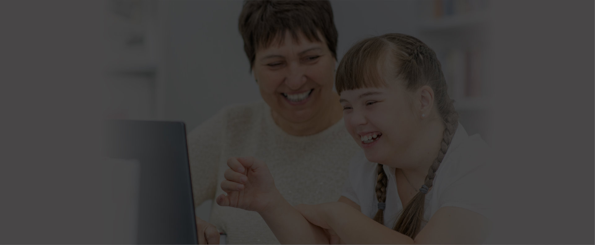 old man smiling with caregiver